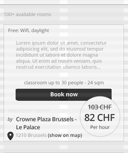 book2meet case study: meeting room wireframe by graphility