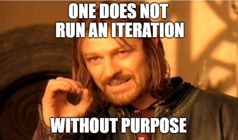 The iterative cycle: run it with purpose!