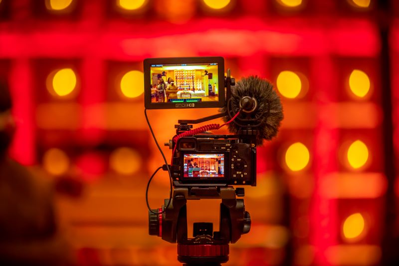 Video marketing strategy, statistics and trends: a video camera in action